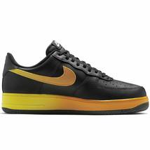 Nike Men's Air Force 1 '07 LV8 Black/Opti Yellow/Orange Peel CJ0524-001 - $99.95