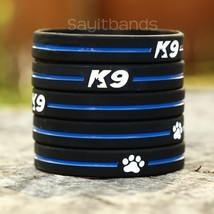 Set of K9 Wristbands - K-9 Bracelets - Thin Blue Line Canine Police Brac... - $5.82+
