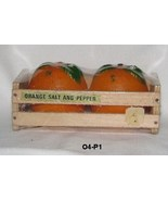 Florida Orange Souvenir Salt Pepper Shakers in Wooden Crate - $14.99