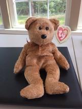 Cashew TY Beanie Baby Soft Gold Tan Brown Teddy Bear Retired w/ Tags Apr... - $12.64