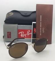 Neu Ray-Ban Sonnenbrille RB 3475-Q 9041 50-21 Leder Braun Rahmen Braun Gläser