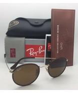 Neu Ray-Ban Sonnenbrille RB 3475-Q 9041 50-21 Leder Braun Rahmen Braun G... - $209.77