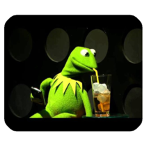 Mouse Pad Kermit The Frog Cute Funny Green Animal Animation For Gaming Fantasy - $9.00