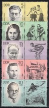1963 Murdered Athletes Set of 5 Germany DDR Stamps Catalog Number B106-10 MNH
