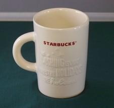 Starbucks 10 Oz Red On White Holiday Mug VGC - $12.00
