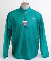 Nike Golf Hyperadapt Shield Lite Green 1/2 Zip Wind Jacket Men's NWT - $93.74