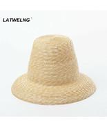 Straw Hat Fashion Retro Style High-top Summer Ladies Vintage Top Hat Buc... - $27.98