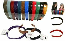 Plastic Hairbands - Hard Headbands - 12 Pack Dark Colors Dark - $25.85