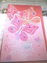 """American Greeting Card """"Happy Valentine's Day To A Daughter Who's""""  NEW - $4.27"""