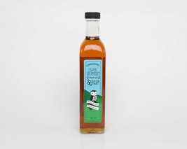 500ml Artisan Glass Bottle - 100% Pure Vermont Maple Syrup - Barred Wood... - $15.95