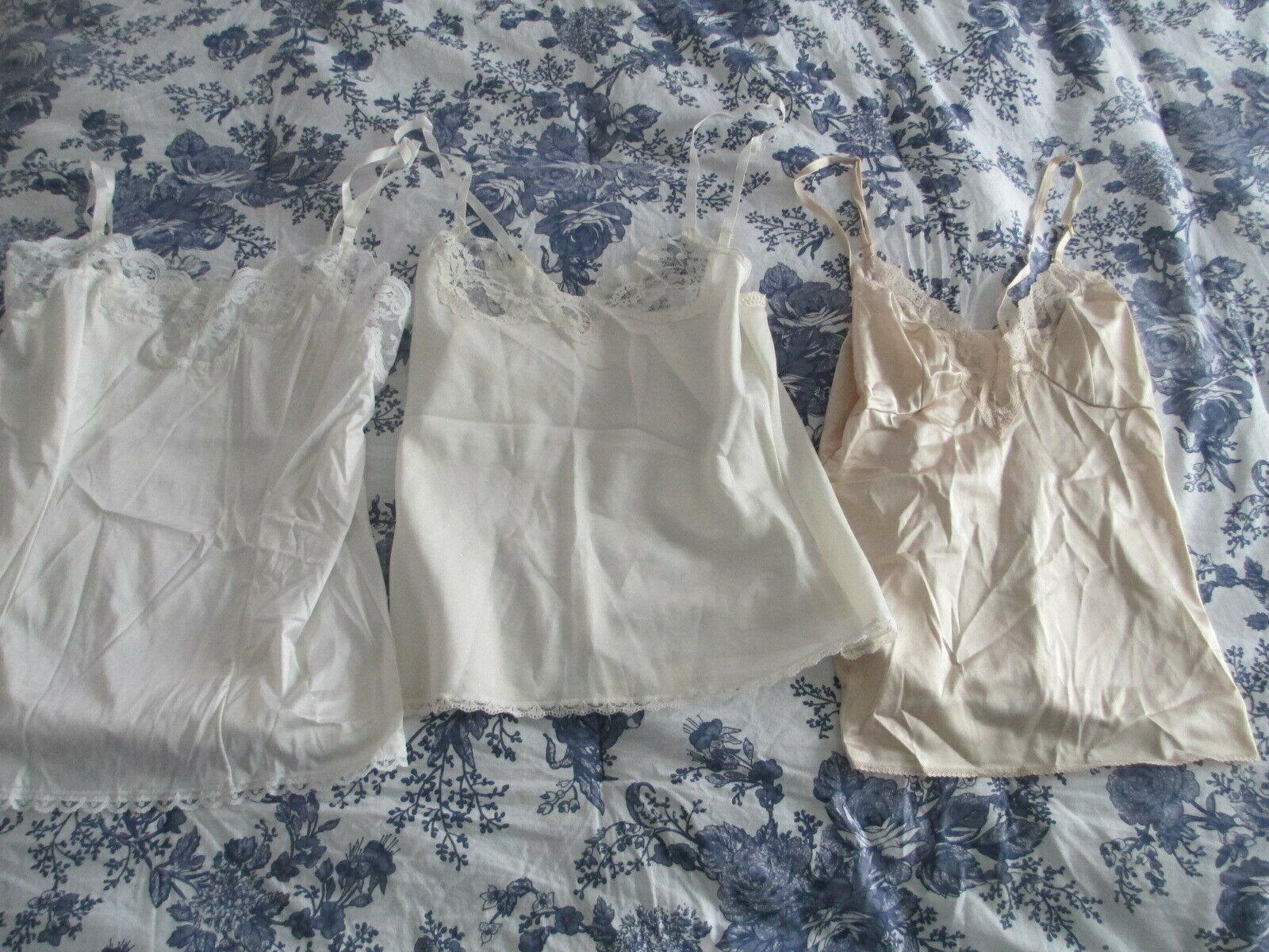 37f0a4e95f0 3 Vtg Ladies Camisoles Lingerie
