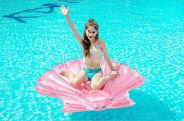 """Seashell Inflatable Pool Rafts Ride Ons Floats Swim Tube for Adults 55.1"""" (Pink) image 4"""