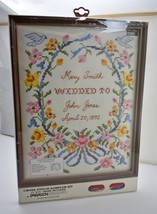 "Personalized Wedding Sampler Cross Stitch Kit-Paragon Needlecraft 11""x14... - $23.70"