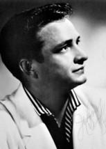 Johnny Cash 1955 studio portrait wearing white jacket 5x7 inch photo - $5.75