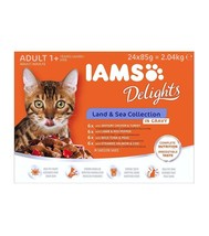 Iams Wet Cat Food Delights Meat And Fish In Gravy, Land And Sea Collecti... - $15.59