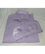 Mens Bugatchi Uomo Long Sleeve Purple Plaid  Size 17 1/2 34/45 19671 - $20.75