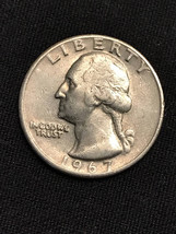 1967 Washington Quarter Fine Condition - great detail from Washington's ... - $19.50