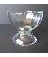 Heavy Duty Vintage  Libbey Ice Cream Sherbet Dish Pedestal Clear Glass Bowl - $12.86