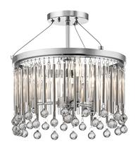 Kichler Lighting 43726CH Semi Flush Chrome Steel Piper - $434.99