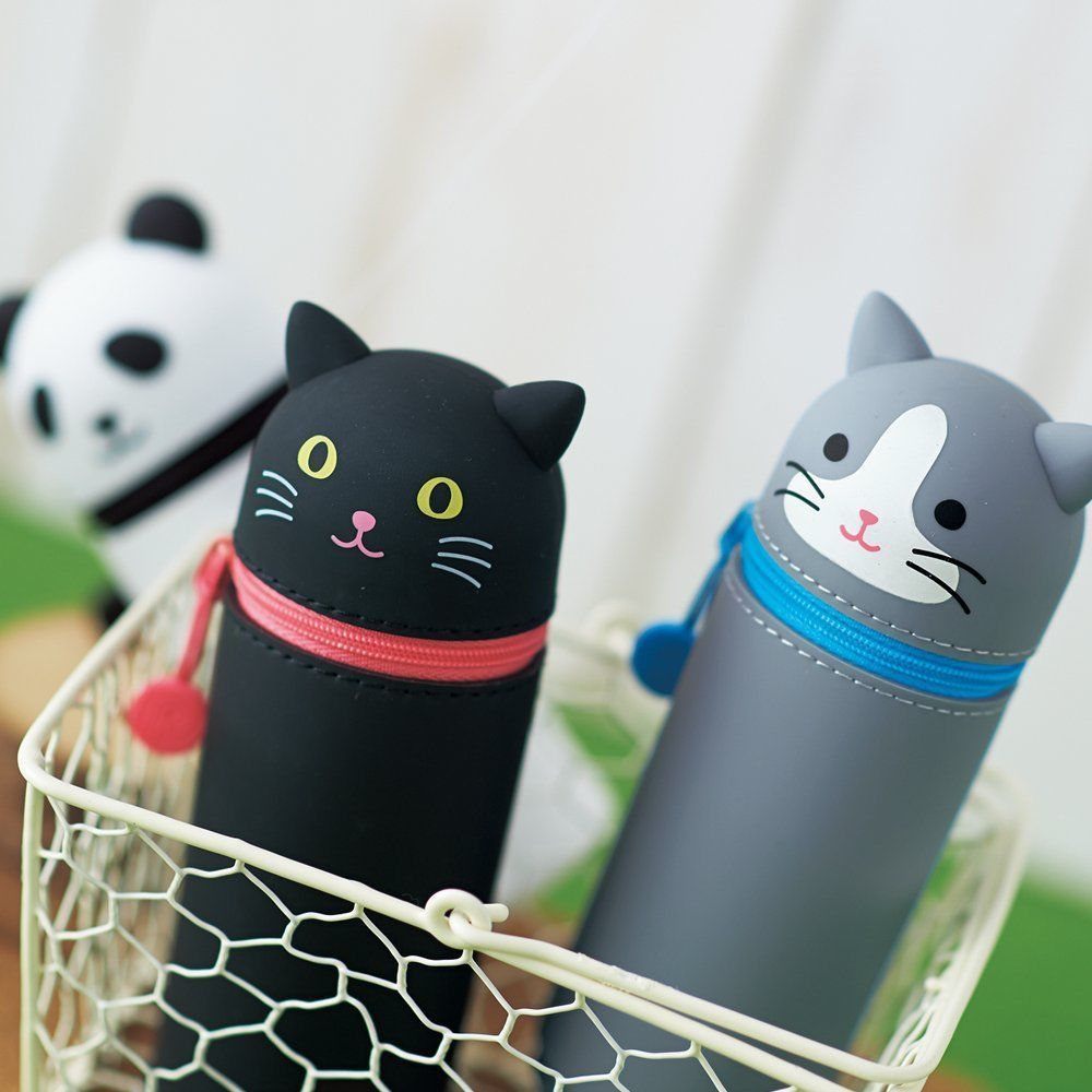 LIHIT LAB SMART FIT PuniLabo Stand Pen Case Pink Pig Buta  JAPAN GIFT
