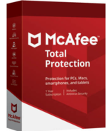 McAfee Total Protection 2021 1 Year 10 Devices (Download) - $24.49