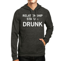 Relationship Status Unisex Dark Grey Fleece Hoodie Humorous Graphic - $25.99+