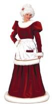 Red Velvet w/Faux Rabbit Trim Long Mrs Santa Clause Dress Size M/L - $197.99