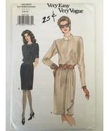 Vogue Sewing Pattern 9060 Misses Blouson Dress w/Straight Skirt Sz 6-10 Uncut - $4.00