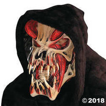 Predator Red Hooded Musculature Scary Latex Adult Halloween Costume Mask - $87.49