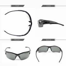 Polarized Men Wrap Around Fashion Sunglasses Fishing Golf Silver Sport Glasses v - $9.89