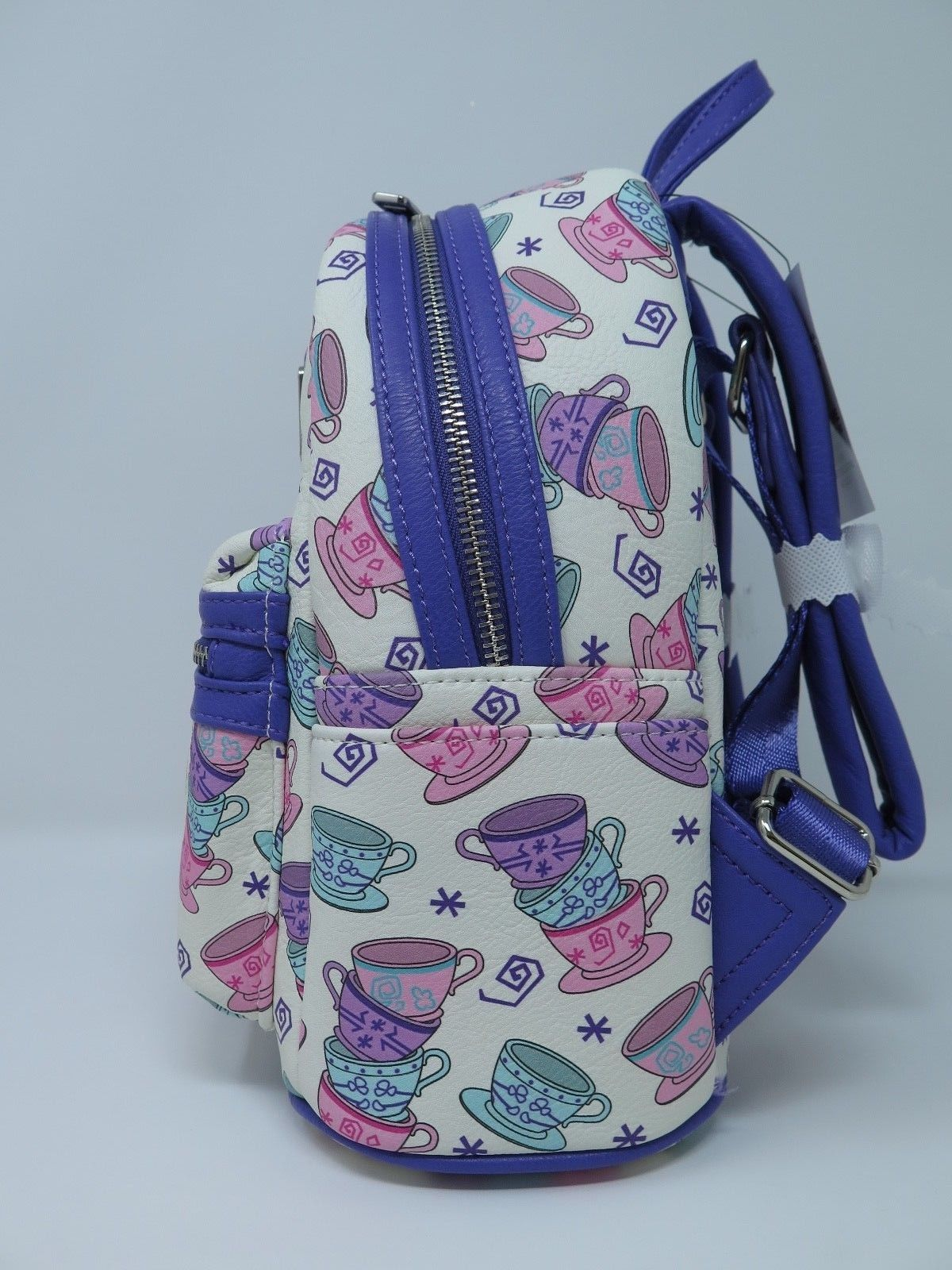 1bb024a88cb Disney Parks Loungefly Mini Backpack Tea Cups Alice in Wonderland Purse Bag
