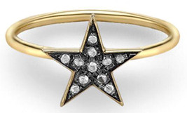 Victorian 0.44ct Rose Cut Diamond Christmas Star Ladies Engagement Ring - $270.22