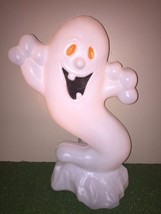 "Rare Vintage  Halloween 22"" Drainage Boo Ghost Lighted Blow Mold Decor - $59.39"