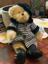 "Audrey Hepburn 2007 Teddy Bear 17"" Houndstooth Black White Coat Trade Secret NEW - $15.26"