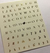 Bang Store Nail Art Water Decals Gold Letter Alphabet Y-031 Gold Kawaii - $3.68