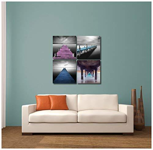 "Pingo World 0816Q8DRQSM ""Colorful Boat Docks"" Gallery Wrapped Canvas Wall Art Se - $48.46"