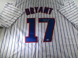 KRIS BRYANT / AUTOGRAPHED CHICAGO CUBS WHITE CUSTOM BASEBALL JERSEY / COA image 1