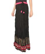 Pink Zig Zag Border Crush Jaipuri Skirt - $25.75