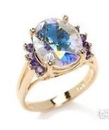 Technibond Or Suzanne Somers Mystic Purple Ring... - $59.97