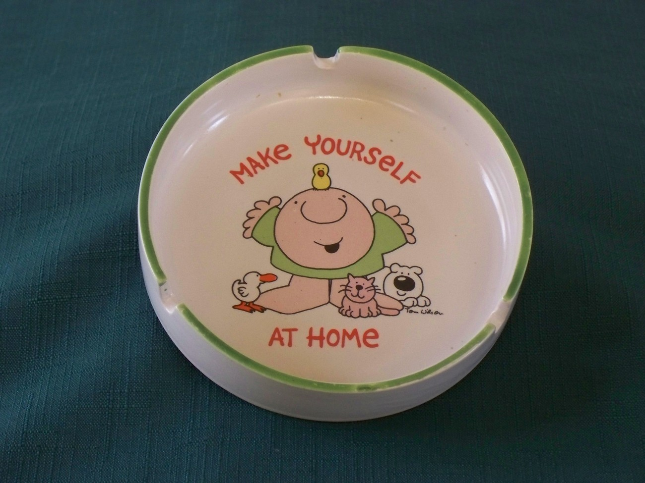 Primary image for Ziggy Make Yourself At Home Stoneware Ashtray 1980 VGC