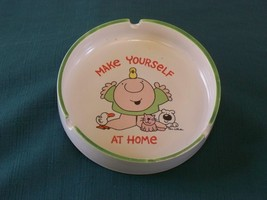 Ziggy Make Yourself At Home Stoneware Ashtray 1980 VGC - $11.00
