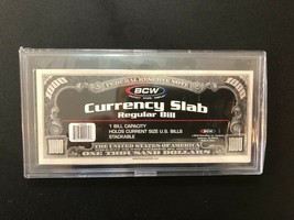 BCW Deluxe Currency Slab Dollar Bill Case Regular Banknote Size Archival... - $6.14