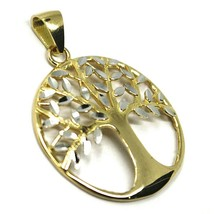 Pendant Gold 750 18K, Yellow White, Tree of Life, Leaf Root, Pendant image 2