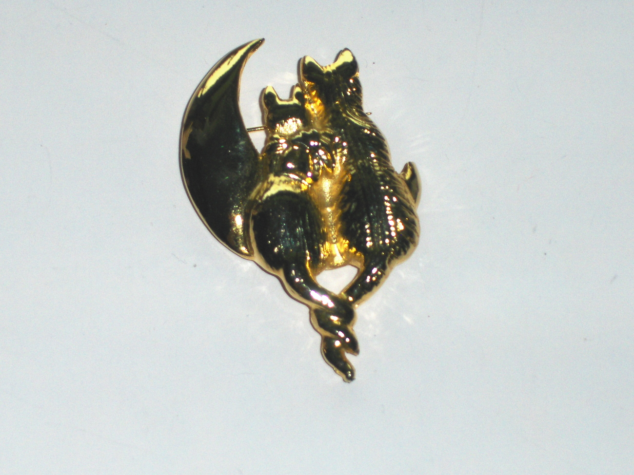 Cats In Love Brooch Pin