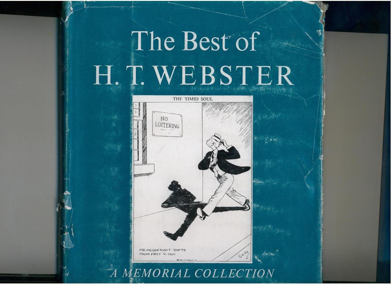 BEST OF H.T. WEBSTER - 1953 - veteran cartoonist