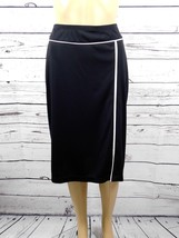 Notations Black w/White Contrast Trim Pencil Skirt Size: M