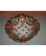 Antique Vintage Hand Painted Porcelain China Bowl JSY Crossed Swords Pin... - $74.25