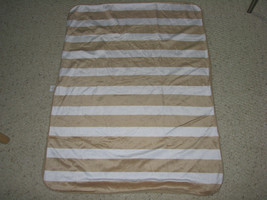 CIRCO BROWN TAN WHITE STRIPE BABY BLANKET PLUSH SHERPA SOFT FLUFFY VALBO... - $854,50 MXN
