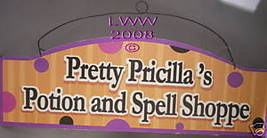 Pricilla's Potion Shop Gothic Halloween Metal Sign NEW - $5.99
