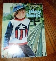 Play Knits Leaflet No 2553 Boys Sweaters Columbia Minerva  - $4.50